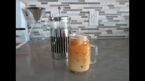 Iced French Pressed coffee